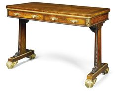 1900-1950 Antiques Diplomatic Large George Ii Walnut Console Table Hand Carved Tables Server