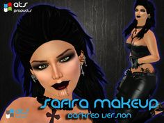Safira (Vampire) Makeup - Dark Red