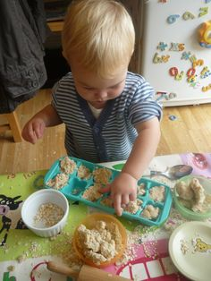 Porridge Oats Playdough! - I have a feeling this would get mostly eaten rather than played with, but a cool idea