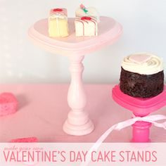 Make your own mini heart cake stands to display your Valentine's Day treats