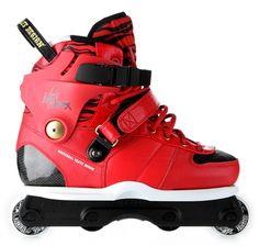 USD Mathieu Ledoux Carbon 3 in hot red. #rollerblades #rollerblading #skate #fresh #kicks