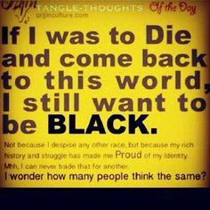 Proud of my Black Heritage