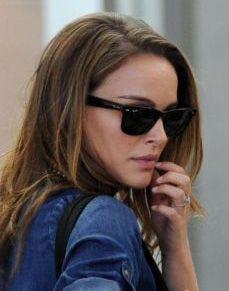 natalie portman ray ban wayfarers sunglasses black rb2140
