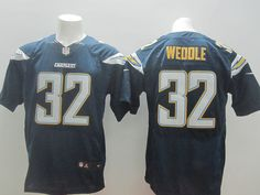 Mens Nike NFL San Diego Chargers #32 Eric Weddle Dark Blue Elite Jerseys