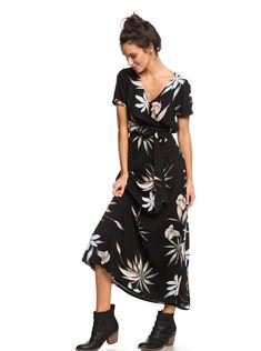 8fffda8f80c Lotus Heart - Robe longue manches courtes pour Femme
