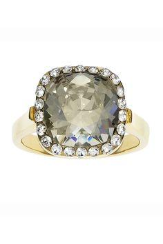 Grus Swarovski Ring in Silver Shadow