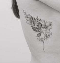 Floral tattoo delicate top design ideas 1