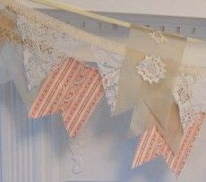Linen, lace and Ticking Banners by Bungalow Bling