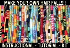 Make Your Own Hippie Hair Wraps Kit Instruction by HouseofJunque, $5.50