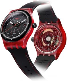 SWATCH SISTEM51 AUTOMATIC SISTEM RED SUTR400