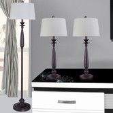 Found it at Wayfair - 3 Piece Table Lamp and Floor Lamp Set with Empire Shade