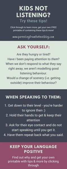 Kids not listening? Your kids will listen if you use these two strategies. Great positive #parenting tips for parents with young kids, toddlers, and preschoolers. #daycaretips