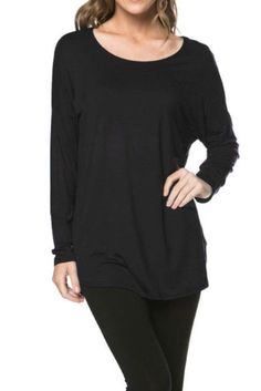 f19fd526dd Viosi Womens Solid Long Sleeve Round Neck Tunic Top Made in USA   Visit the  image link more details.
