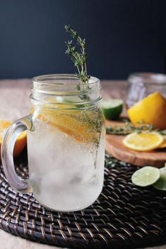 Recipe : Citrus Thyme Cocktail