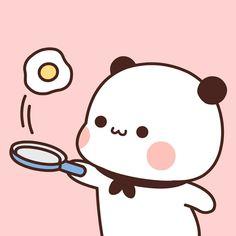Cute Panda Cartoon, Cute Cartoon Pictures, Cute Cartoon Girl, Cute Love Cartoons, Cute Kawaii Backgrounds, Cute Cartoon Wallpapers, Chibi Cat, Cute Chibi, Cute Animal Quotes