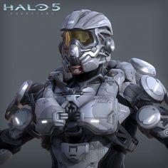 Halo 5 - Aviator armor - 3d game model, Adam Sacco on ArtStation at https://www.artstation.com/artwork/P2Exo