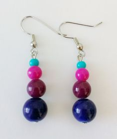 CLEARANCE Multi-Colored Beaded Dangling Earrings Beaded