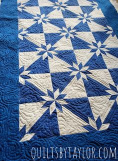 Quilts for Sale Star Quilt King or Queen Made To Order image 1 Patchwork Quilts For Sale, Blue Quilts, Star Quilts, White Quilts, Mens Quilts, Colorful Quilts, Amish Quilts, Quilt Blocks, Machine Quilting Patterns