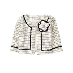 Ivory Bouclé Bloom Jacket at JanieandJack