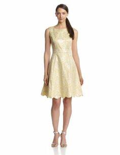 Jones New York Women's Jacquard Tea Party Dress