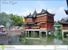 cool Teahouse in the Yuyuan Garden