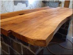 Natúr fa asztallap - Antik bútor, egyedi natúr fa és loft de Natural Wood Furniture, Fa, Table, Vintage, Home Decor, Decoration Home, Room Decor, Tables, Vintage Comics