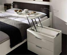 szafka nocna z szufladami i tacą