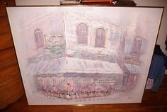 Large Lee Reynolds Oil Painting on Canvas Flower Shop 60 x 48