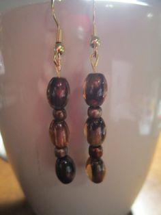 Brown Glass Bead Earrings by BeadazzlingButterfly on Etsy, $15.00