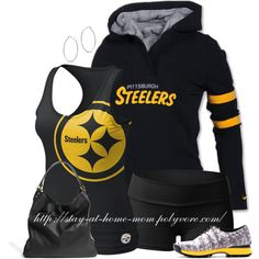 Steelers outfit for running errands Steelers Gear, Pittsburgh Steelers Football, Best Football Team, Steelers Fans, Steelers Stuff, Football Gear, Football Season, Steeler Nation, Sport Clothing