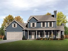 House Plan 49088 | Country Plan with 2343 Sq. Ft., 4 Bedrooms, 3 Bathrooms, 2 Car Garage