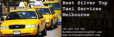 Hiring one of the fleets from #Silver #Services #Taxi #Melbourne is a wise move that will save your time and guarantee your #safety. If you are looking for quality #Best #cab #services then all the more reasons to call #Melbourne #taxi #Number and pre-book our fast and reliable taxi services. Booking is available on Book@silverservice24x7.com and visit at www.silverservice24x7.com call us at +61 452 622 391