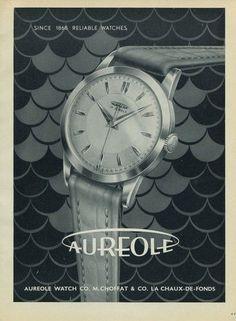 1954-Aureole-M-Choffat-Co-Watch-Co-Switzerland-Swiss-Print-Ad-Publicite-Suisse