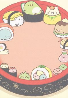 "San-X Sumikko Gurashi ""Sushi"" Memo Cute Cartoon Wallpapers, Cartoon Pics, Sanrio Characters, Cute Characters, Kawaii Drawings, Cute Drawings, Kawaii Art, Kawaii Anime, Sumiko Gurashi"