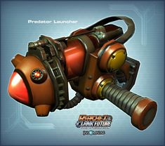 Predator Launcher - Artwork from Ratchet  Clank Future : Tools of Destruction. Ratchet Galaxy - The Ultimate Ratchet  Clank Resource