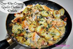 One Pan Creamy Garlic Chicken and Potatoes Recipe