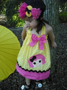 Baby Girl Halter Dress. $27.50, via Etsy.