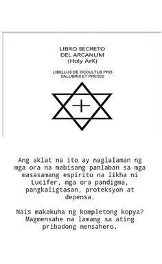 Combate Espirituwal sa Mahiwagang Mundo: Mahiwagang Aklat : LIBRO SECRETO DEL ARCANUM