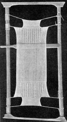 Sprang frame or loom.