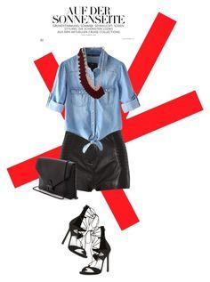 """Denim shirt"" by julietacelina ❤ liked on Polyvore"