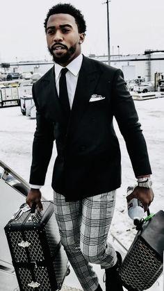 Awesome 40 Flawless Black Men Style Ideas That Looks Modern Dapper Gentleman, Gentleman Style, Gentleman Fashion, Sharp Dressed Man, Well Dressed Men, Sharp And Dapper, Mens Fashion Suits, Mens Suits, Men In Black
