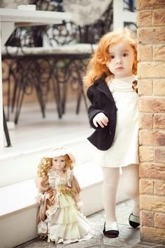 Ginger - she is adorable and I love this shot with her matching doll