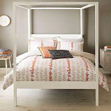 Lotta Jansdotter Kita Orange White Skandi 200TC Cotton Duvet Quilt Cover Bedding