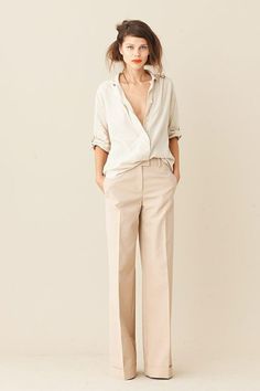 oversized shirt + tailored pants