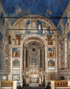 Trecento - Chapelle des Scrovegni - Giotto, v 1304-06 - Padoue Les Scrovegi(s) demandent à Giotto de peintre la chappelle. → Parralélisme entre St François d'Assise/ le Christ