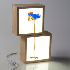 Items similar to Children's Light boxes handpainted-Luz bed-lightbox-decorate children's 5 cm. Each light box on Etsy Light Box Display, Pop Display, Cadre Photo Diy, Marco Diy, Lightbox Art, Neon Box, Old Picture Frames, Wooden Lamp, Childrens Room Decor