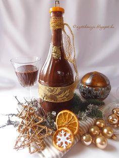 Az otthon ízei: Csokilikőr házilag Dessert Drinks, Desserts, Cocktails, Limoncello, Diy Food, Hot Sauce Bottles, Healthy Drinks, Truffles, Rum