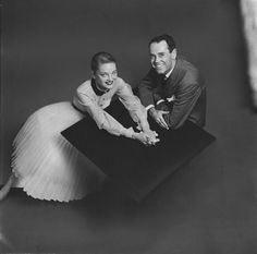 1952 Henry Fonda with his wife, Susan Blanchard, who wears a white organdy dress by Filcol.
