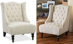 Macys Sale- Fabyan High Back Wing Chair, Quick Ship