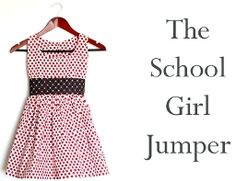 Tutorial: School Girl Jumper sew-along – Sewing Sewing Patterns Free, Free Sewing, Clothing Patterns, Dress Patterns, Pattern Dress, Free Pattern, Sewing Kids Clothes, Sewing For Kids, Baby Sewing